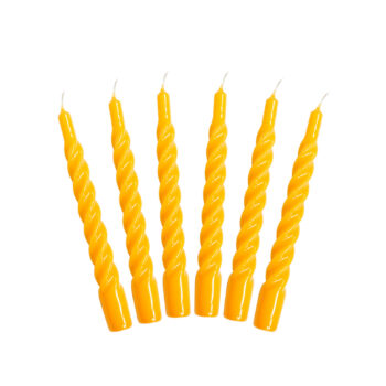 Candles with a Twist - Taper Candle 21 cm Color: Yellow