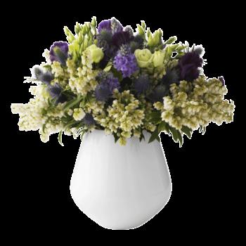 white fluted vase