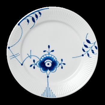 plate 27 cm blue fluted mega