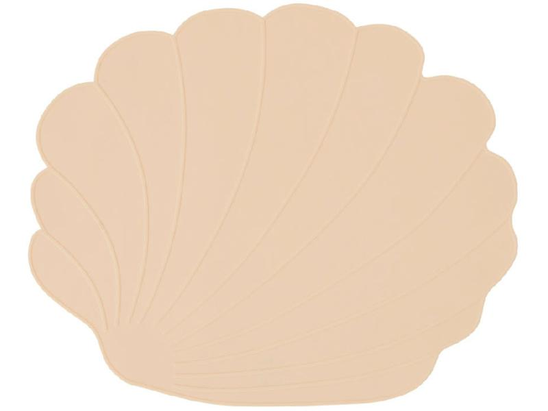seashell placemat beige