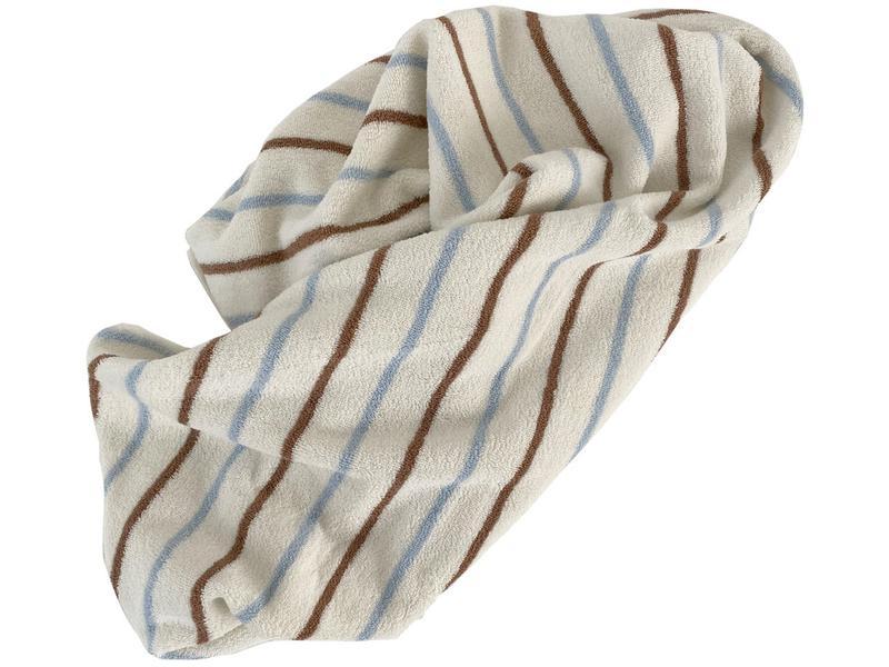 oyoy towel beige blue brown
