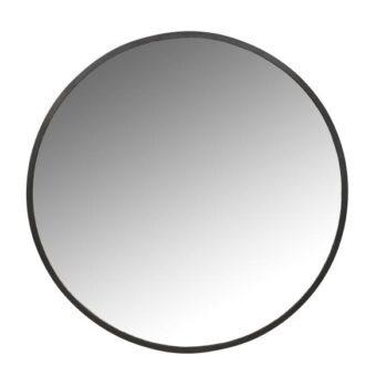 mirror black round