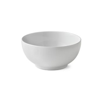 bowl white fluted