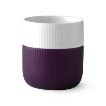 fluted contrast aubergine