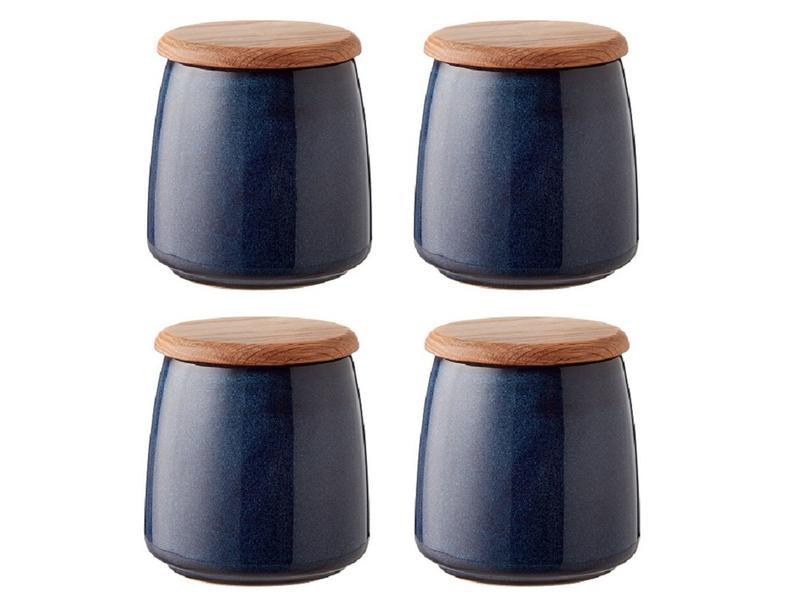 jar with lid blue