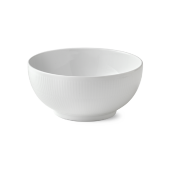 white fluted bowl 21