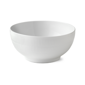 white fluted bowl 310 cl