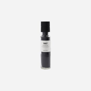 Sea salt, activated charcoal
