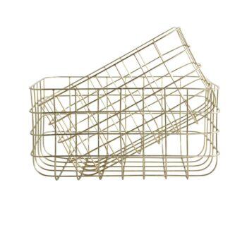 wire baskets gold