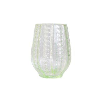 dusty green drinking glass