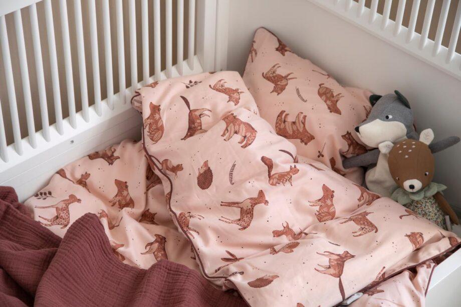 sebra bedding rose