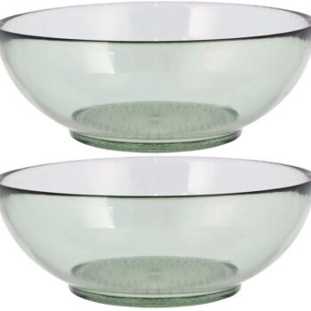 salad bowl glass green