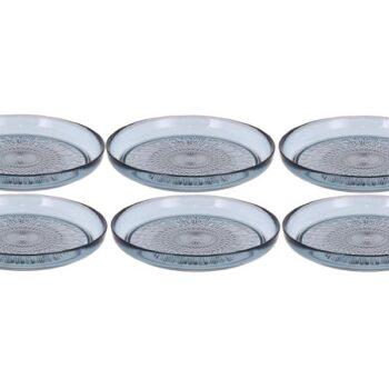 blue plates glass